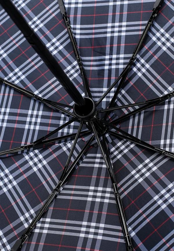 Фото 4 - Зонт складной Fabretti синего цвета
