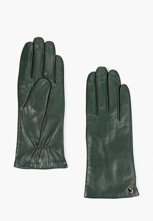 женские перчатки fabretti, зеленые
