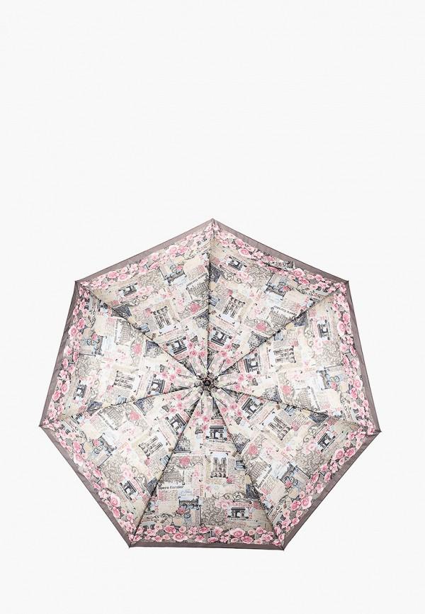 женский зонт fabretti, серый