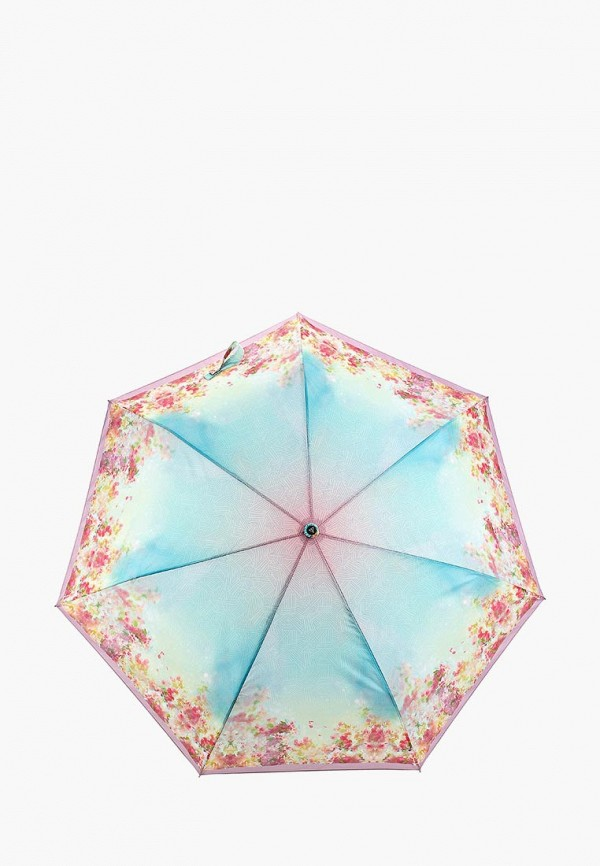 женский зонт fabretti, бирюзовый