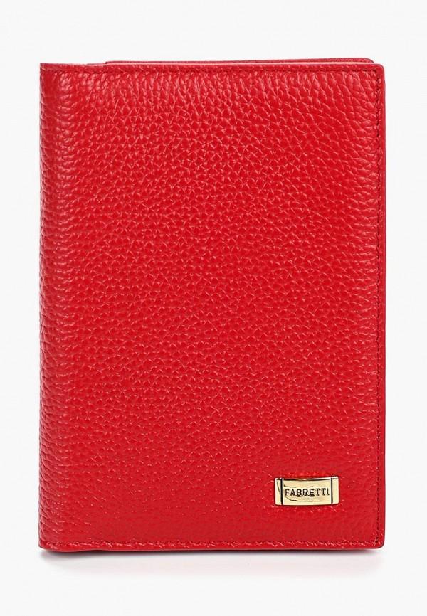 Обложка для паспорта Fabretti красного цвета