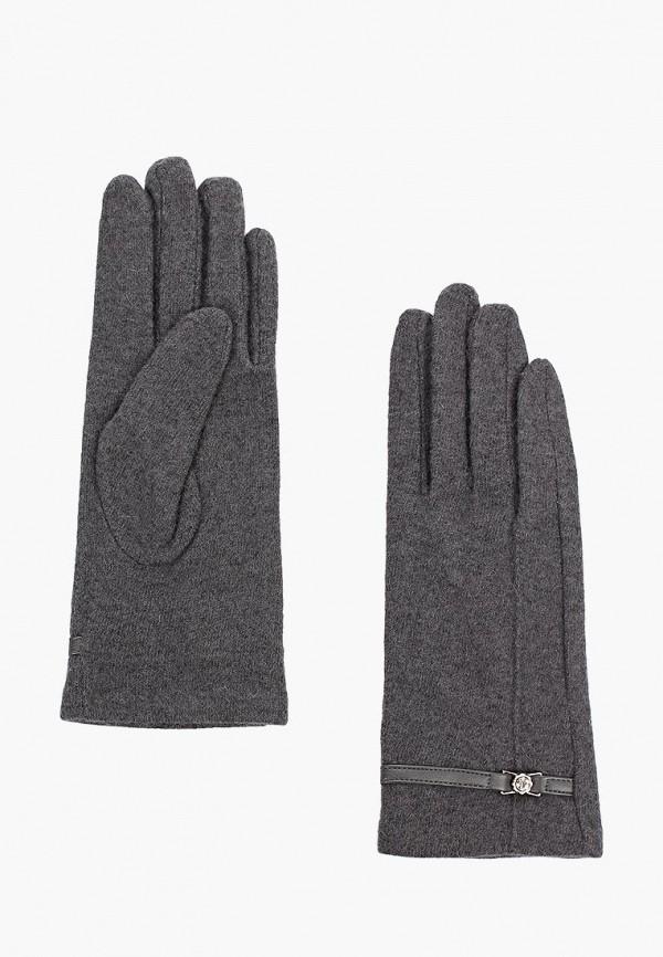 Фото - женские текстильные перчатки Fabretti серого цвета