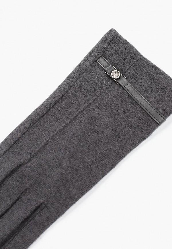Фото 2 - женские текстильные перчатки Fabretti серого цвета