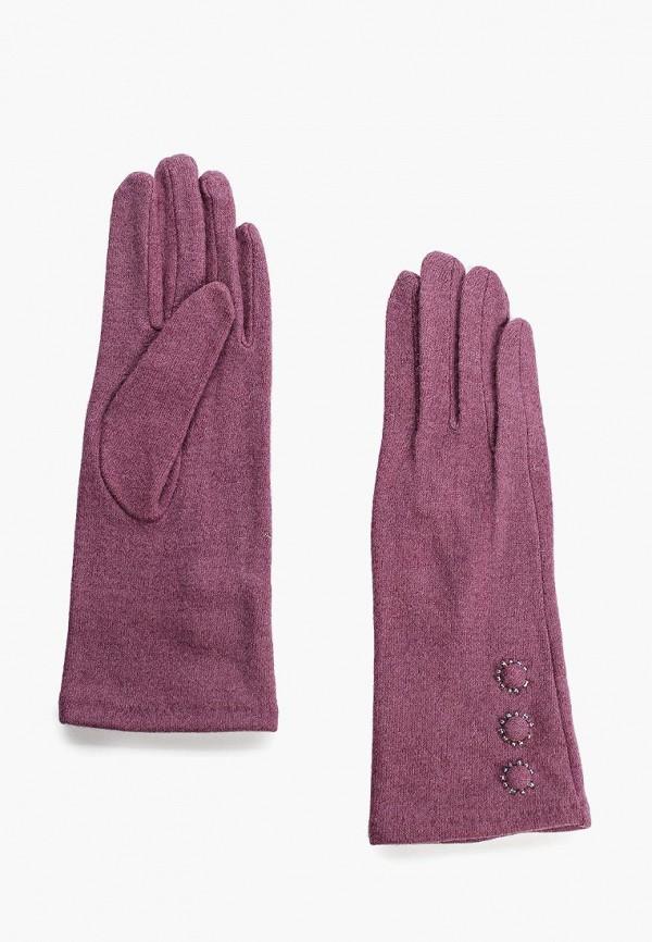 Фото - женские текстильные перчатки Fabretti фиолетового цвета