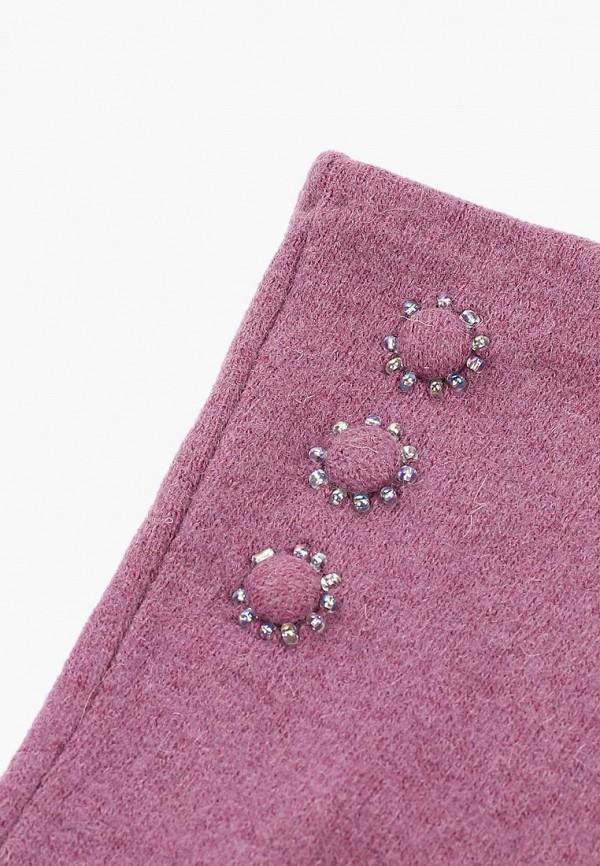 Фото 2 - женские текстильные перчатки Fabretti фиолетового цвета