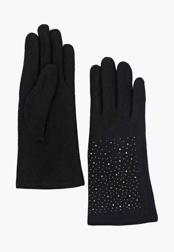 Фото - женские текстильные перчатки Fabretti черного цвета