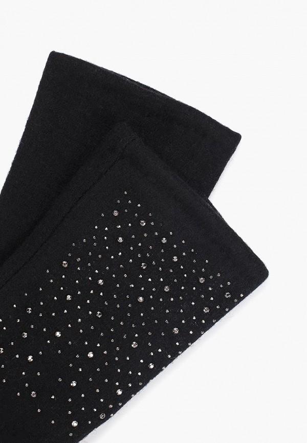 Фото 2 - женские текстильные перчатки Fabretti черного цвета