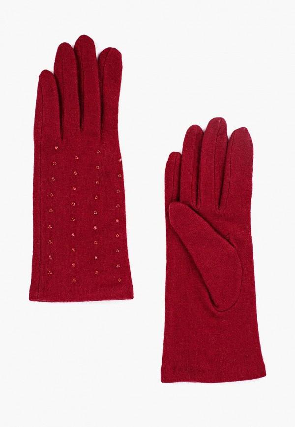 Фото - женские текстильные перчатки Fabretti бордового цвета