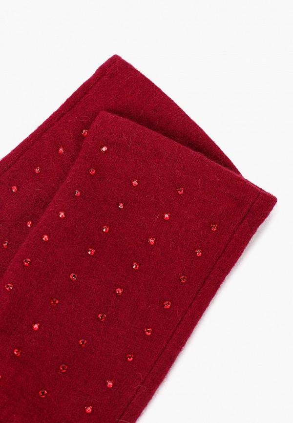 Фото 2 - женские текстильные перчатки Fabretti бордового цвета