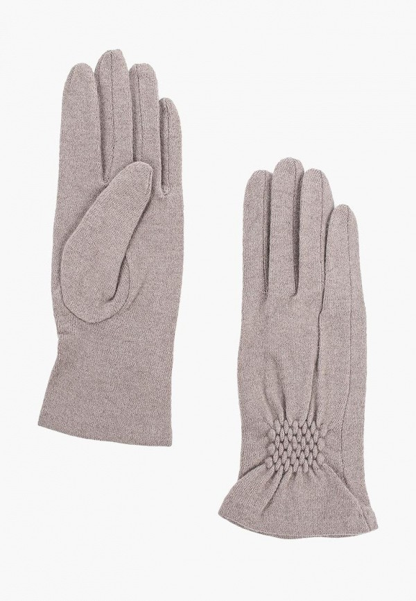 Фото - женские текстильные перчатки Fabretti бежевого цвета