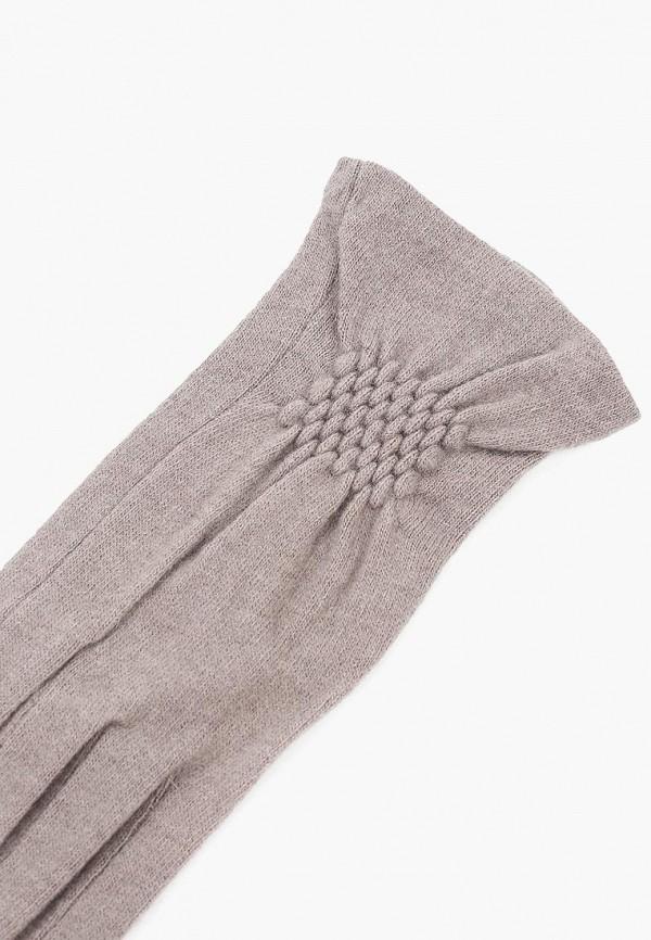 Фото 2 - женские текстильные перчатки Fabretti бежевого цвета