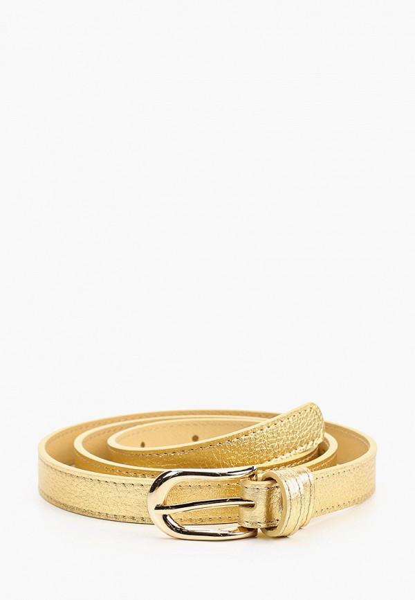 женский ремень fabretti, золотой