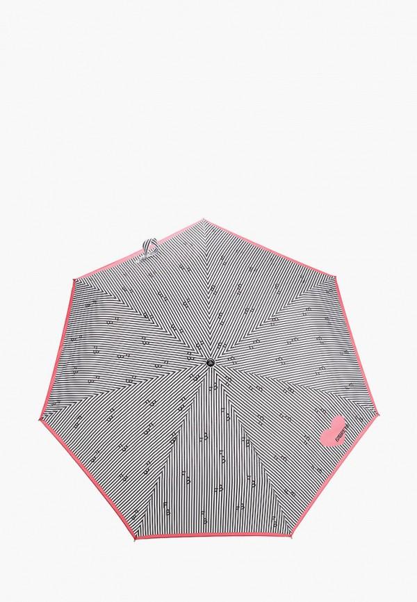 женский складные зонт fabretti, серый