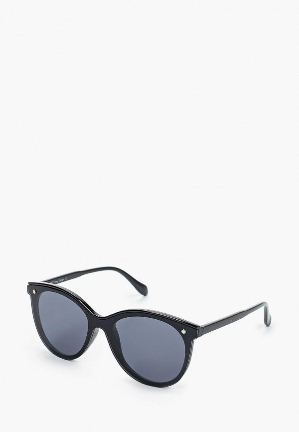 женские солнцезащитные очки кошачьи глаза fabretti, черные