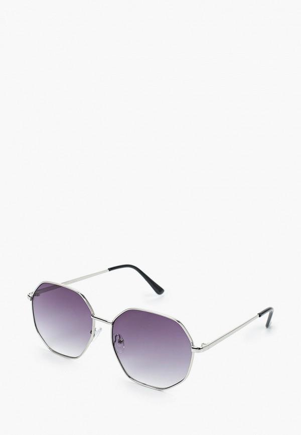 женские квадратные солнцезащитные очки fabretti, серые