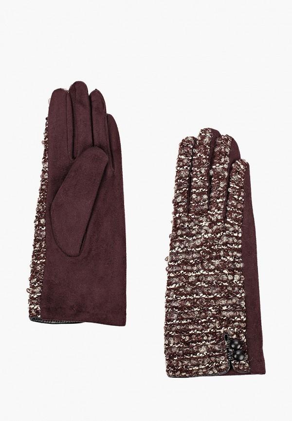 женские перчатки fabretti, коричневые