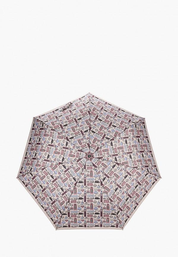 женский зонт fabretti, коричневый