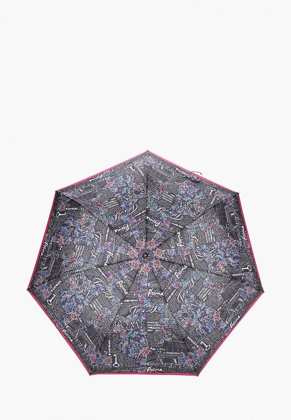 женский зонт fabretti, черный