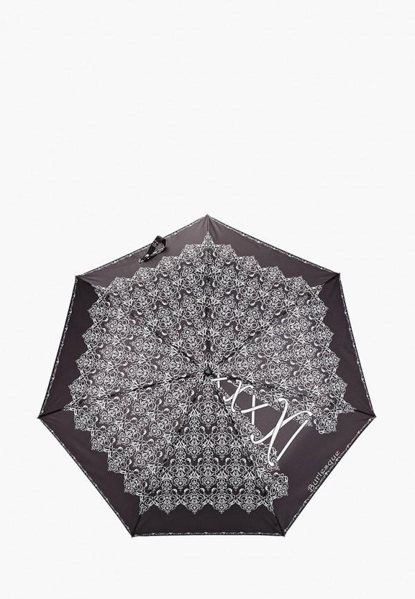 женский складные зонт fabretti, черный