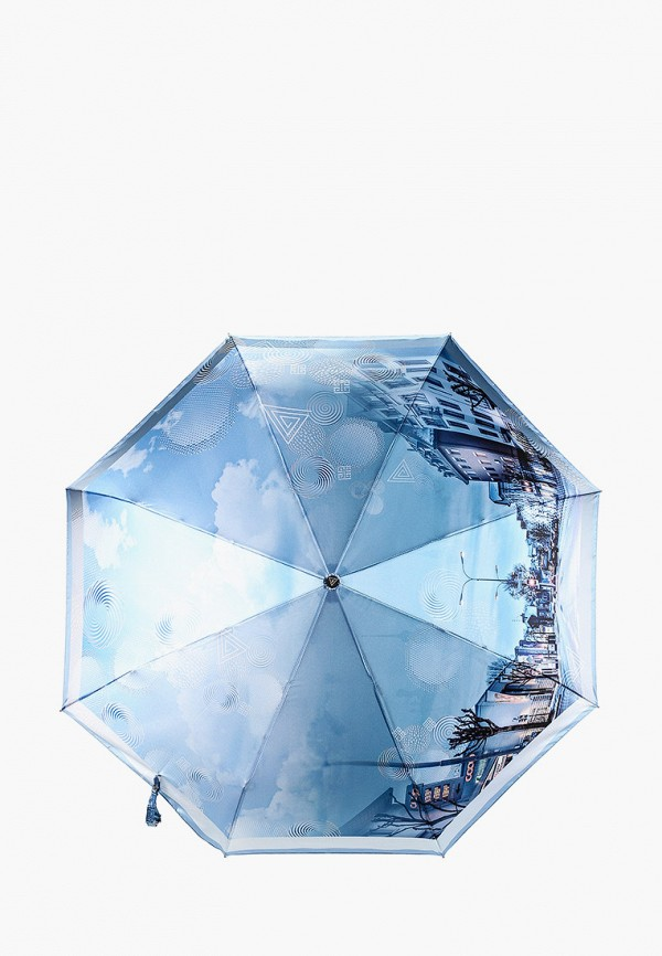 женский зонт fabretti, голубой