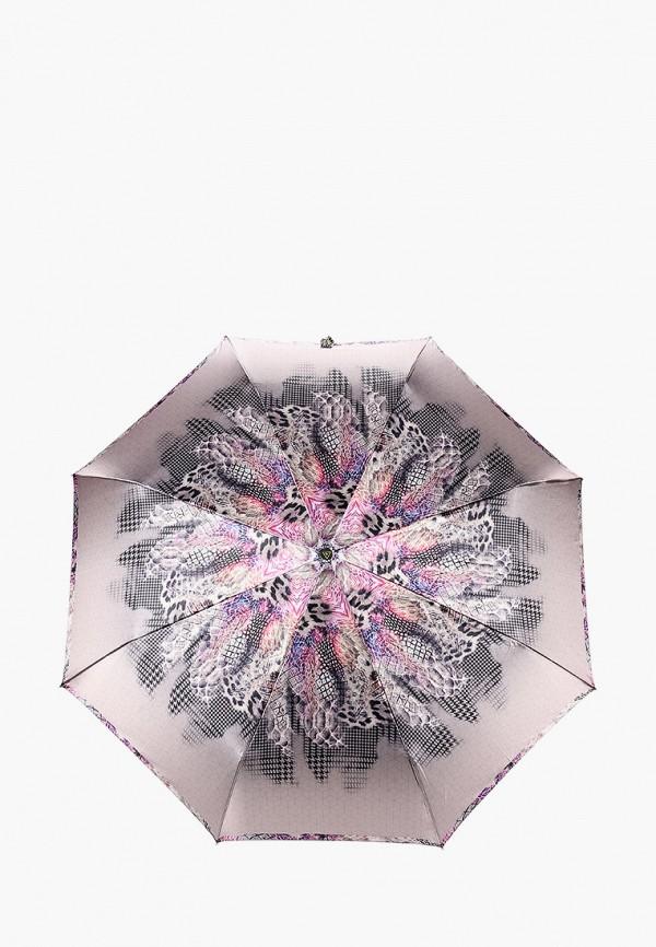 женский складные зонт fabretti, коричневый