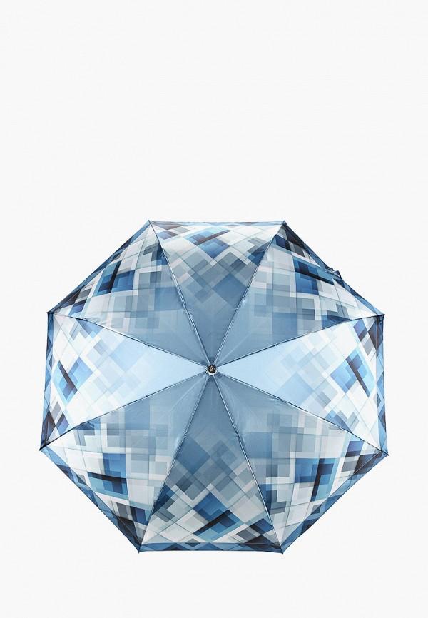женский складные зонт fabretti, голубой