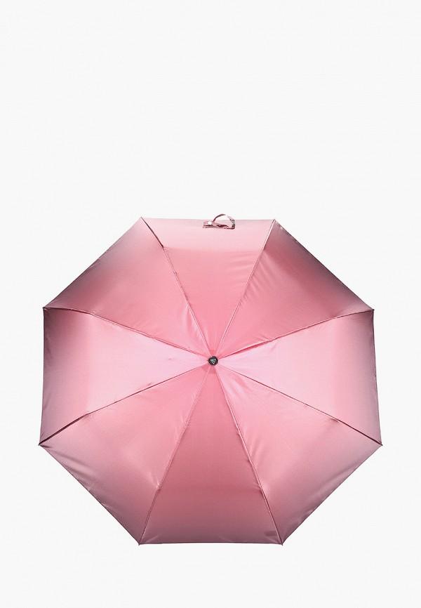 женский складные зонт fabretti, розовый