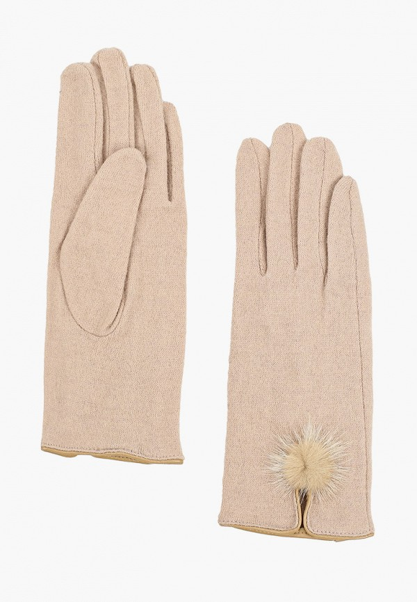 женские перчатки fabretti, бежевые