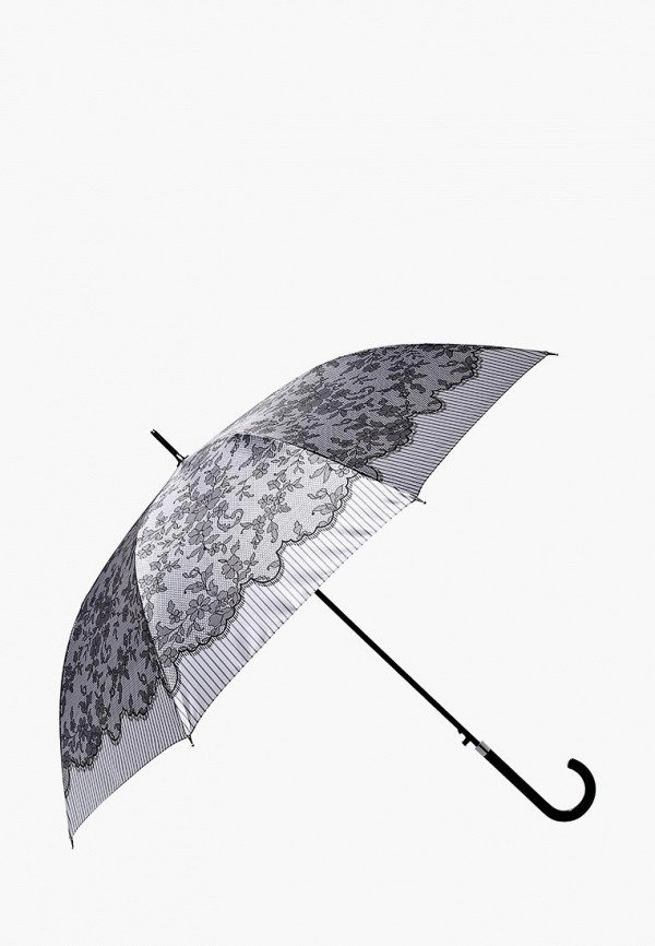 Фото 2 - Зонт-трость Fabretti серого цвета