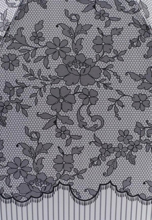 Фото 3 - Зонт-трость Fabretti серого цвета