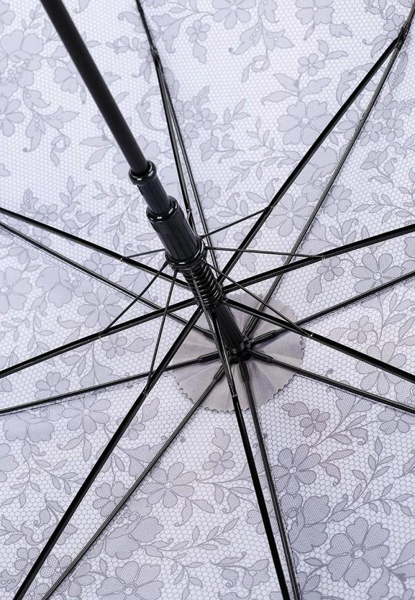 Фото 4 - Зонт-трость Fabretti серого цвета
