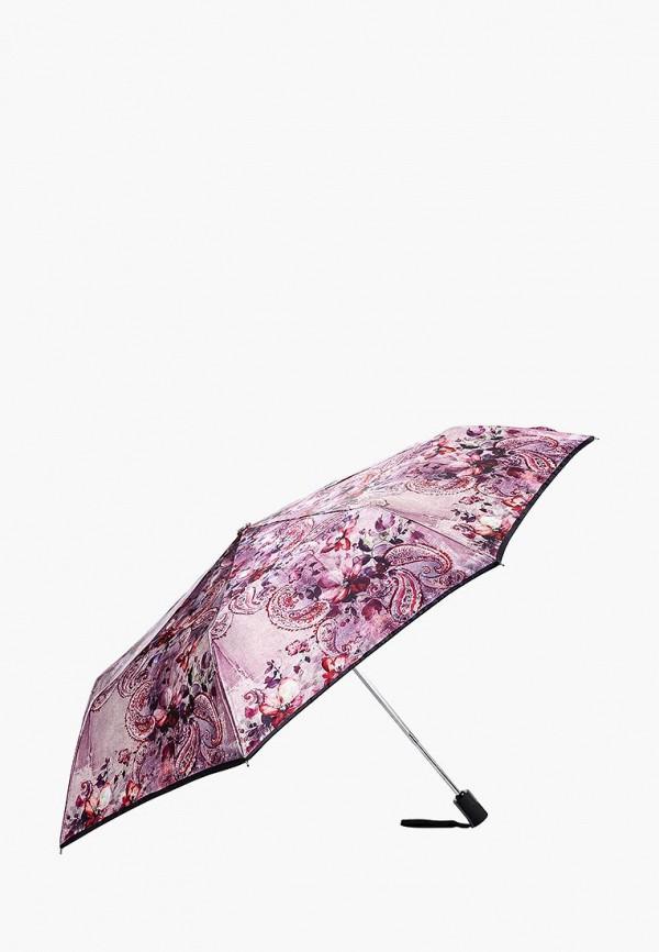 Фото 2 - Зонт складной Fabretti розового цвета