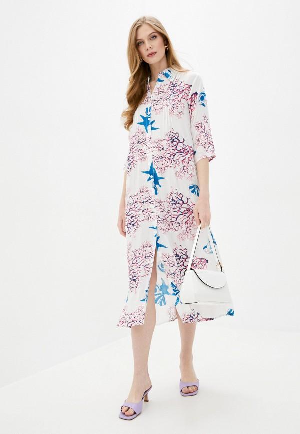 женское повседневные платье fabretti, белое
