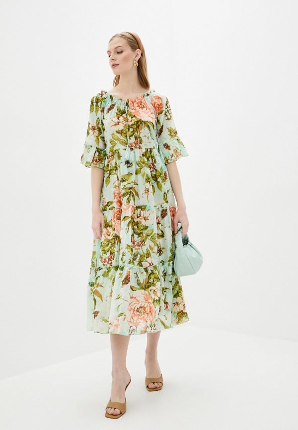 женское повседневные платье fabretti, зеленое