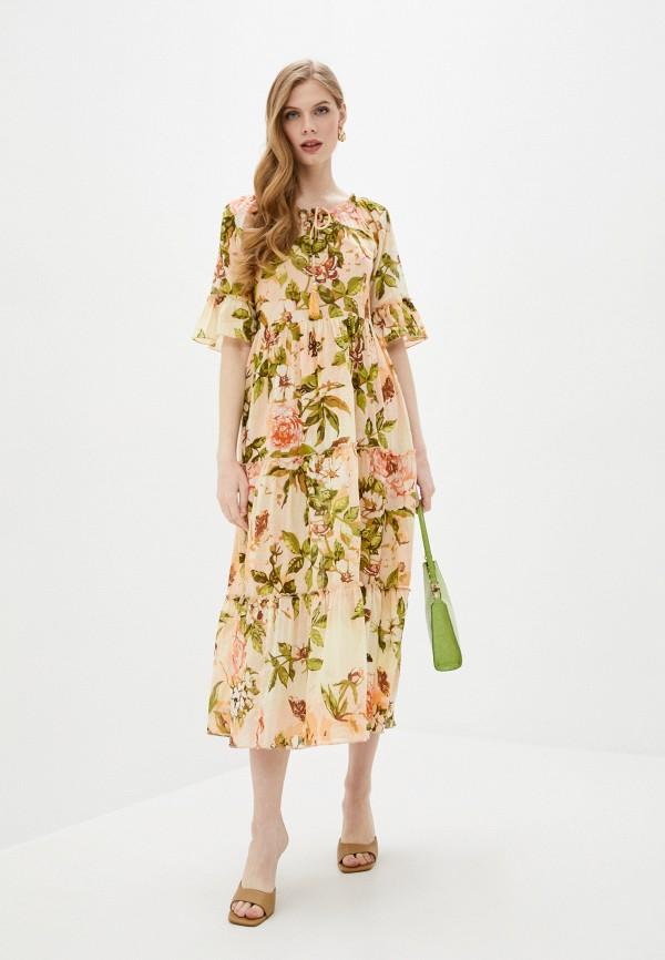 женское повседневные платье fabretti, розовое