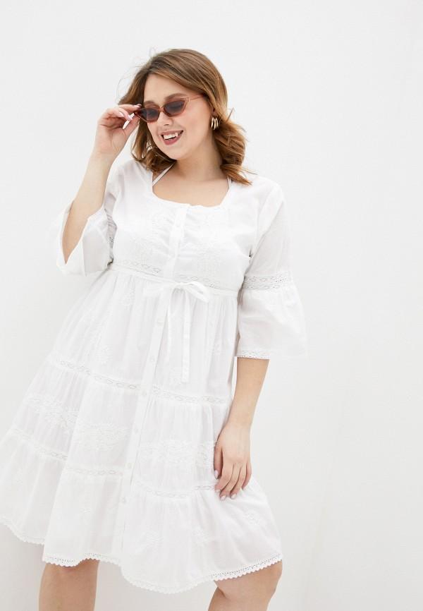женское платье fabretti, белое