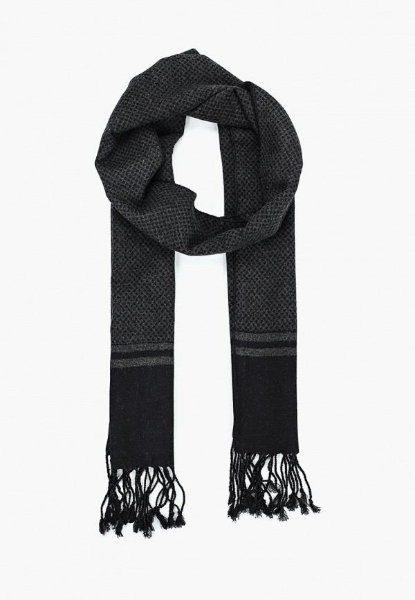 мужской шарф fabretti, черный