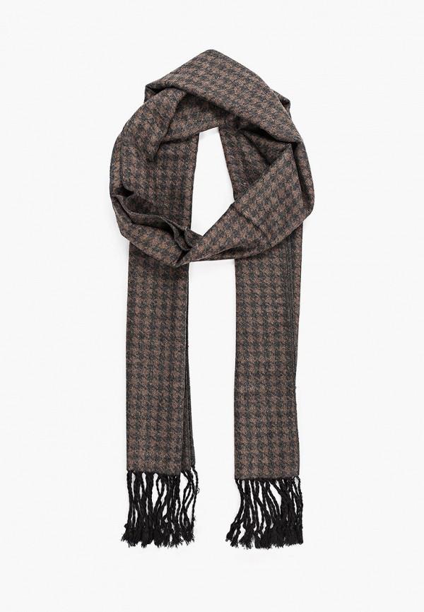 мужской шарф fabretti, коричневый