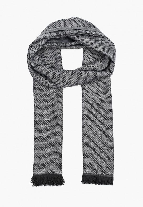 Фото 4 - мужской шарф Fabretti серого цвета