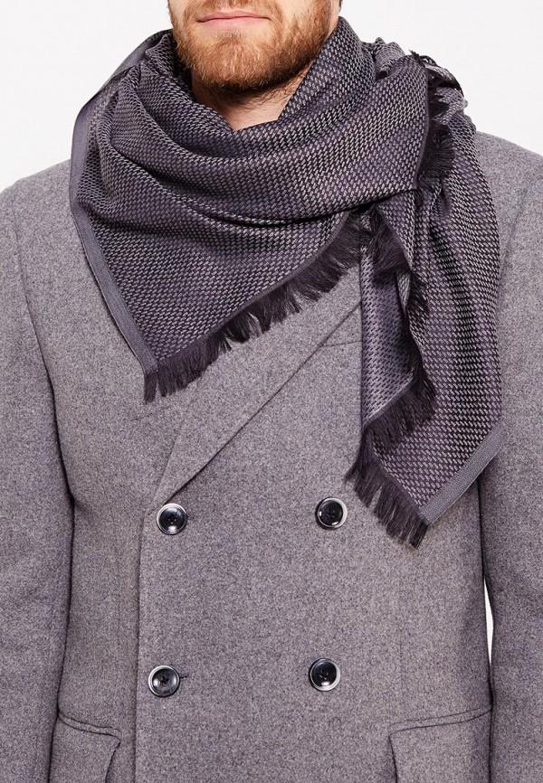 Фото 3 - мужской шарф Fabretti серого цвета