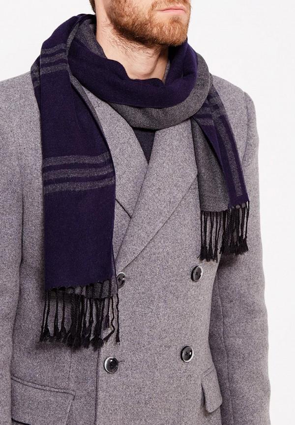 Фото 3 - мужской шарф Fabretti синего цвета