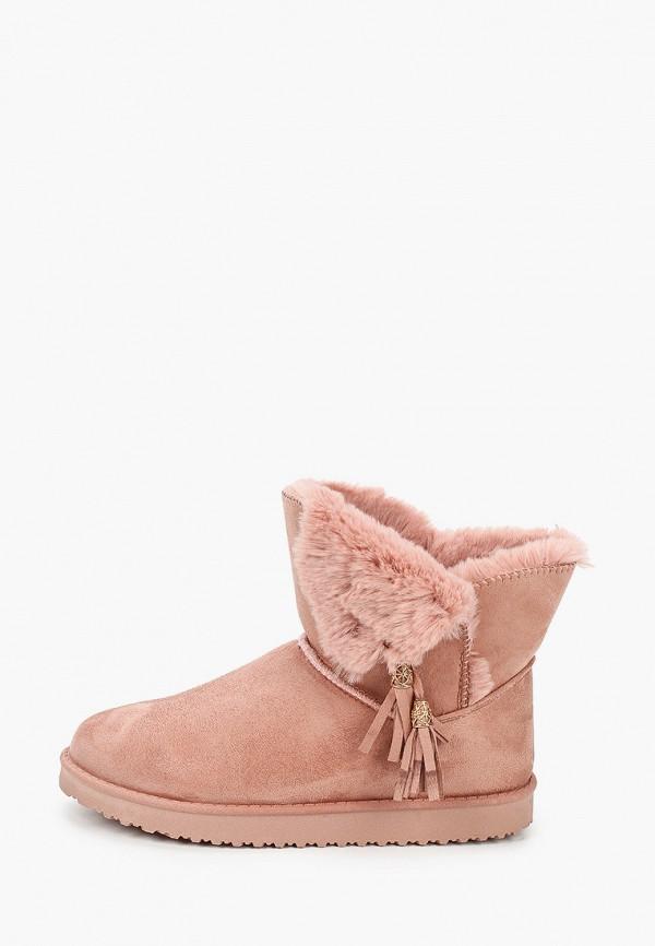 женские полусапожки fashion & bella, розовые