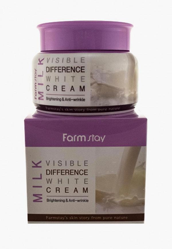 Купить Крем для лица Farm Stay, увлажняющий с экстрактом молока, 100 гр, FA035LWAVTA4, прозрачный, Осень-зима 2018/2019