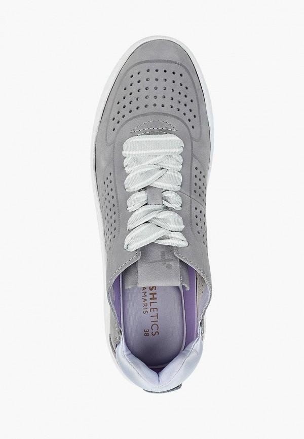 Фото 4 - женские кроссовки Fashletics by Tamaris серого цвета
