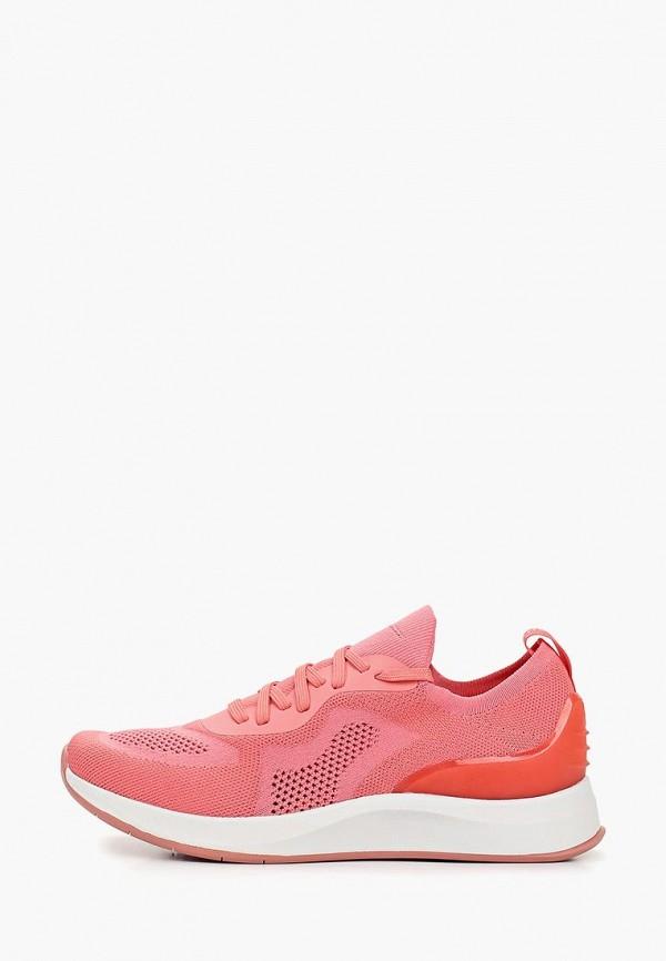 Фото - женские кроссовки Fashletics by Tamaris розового цвета