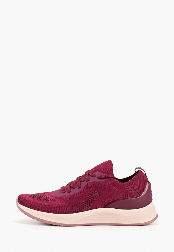 женские кроссовки fashletics by tamaris, бордовые