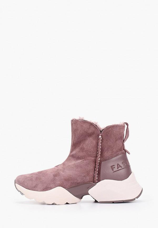женские ботинки fashletics by tamaris, розовые