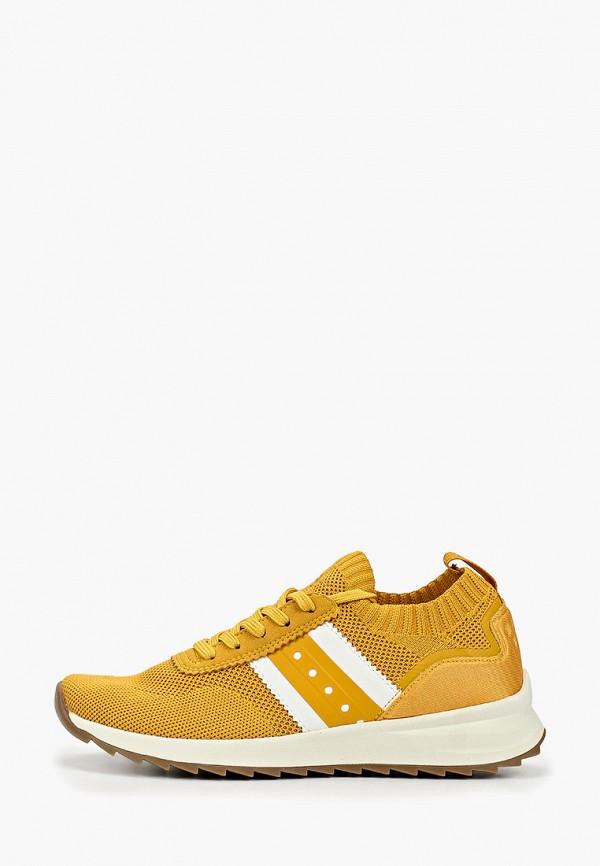 женские кроссовки fashletics by tamaris, желтые