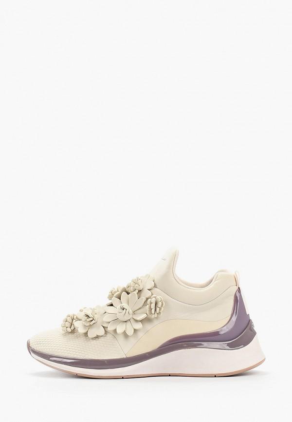 женские кроссовки fashletics by tamaris, бежевые