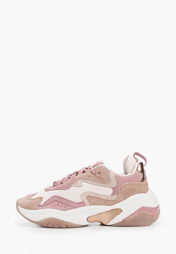 женские кроссовки fashletics by tamaris, розовые